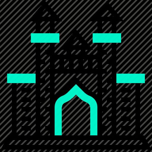 atlantis, building, landmark, plam icon