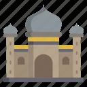 blue, mosque