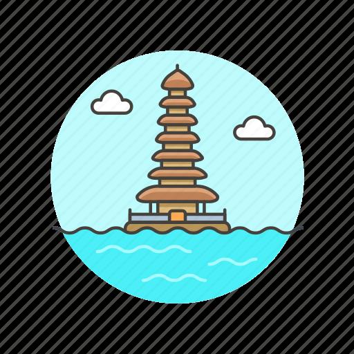 architecture, bali, buddhism, famous, landmark, monument, pagoda icon