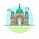 cathedral, berlin, landmark, famous, architecture, monument, germany icon