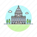 capitol, hill, landmarks icon