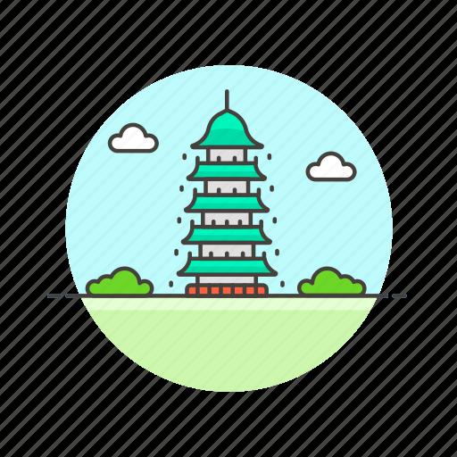 architecture, asia, buddhism, chinese, famous, landmark, monument, pagoda icon