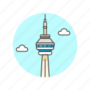 architecture, canada, cn, famous, landmark, monument, toronto, tower icon