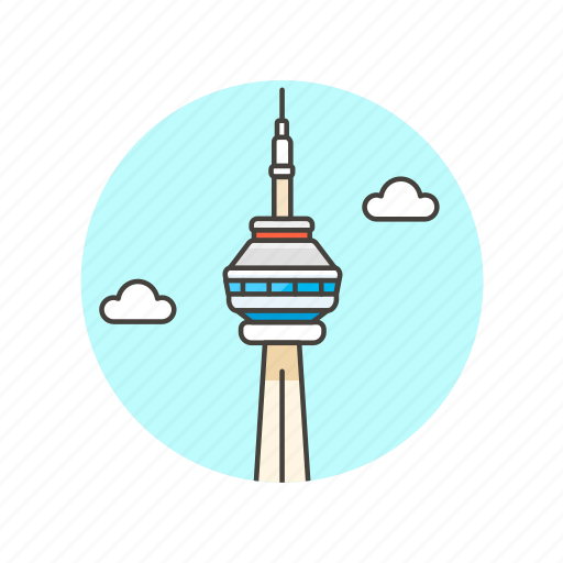 Cn, tower, architecture, famous, landmark, monument, canada icon - Download on Iconfinder