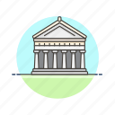 architecture, famous, greece, landmark, monument, parthenon, temple icon