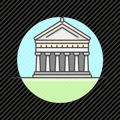 architecture, famous, greece, landmark, monument, parthenon, temple icon