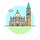 basilica, campanile, saint, marks, landmark, famous, architecture, monument icon