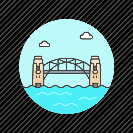 architecture, australia, bridge, famous, harbor, landmark, monument, sydney icon