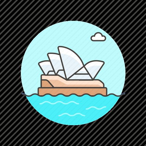 architecture, australia, famous, house, landmark, monument, opera, sydney icon
