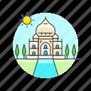 architecture, famous, india, landmark, mahal, monument, taj, temple icon