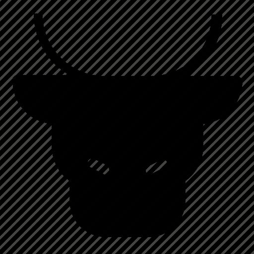 animal, bull icon