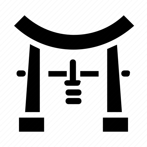 chinease, landmark, torii icon