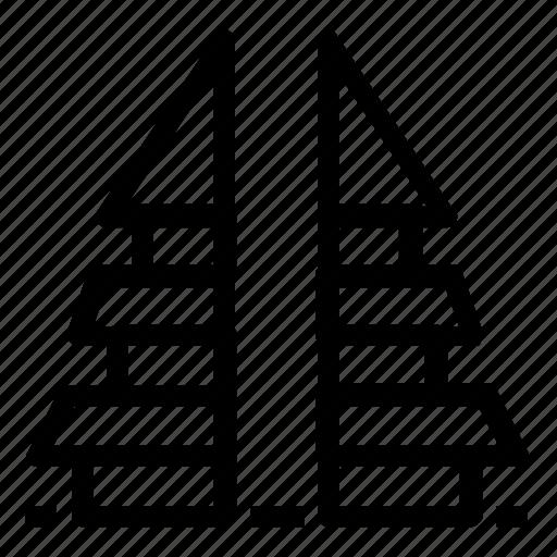 asian, landmark icon