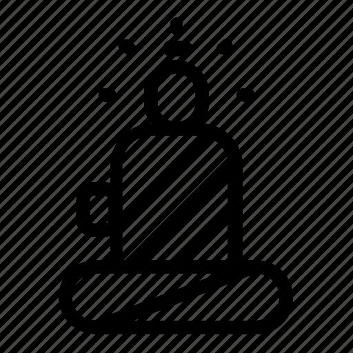 buddha, landmark icon