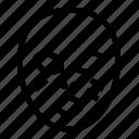 asia, mask icon