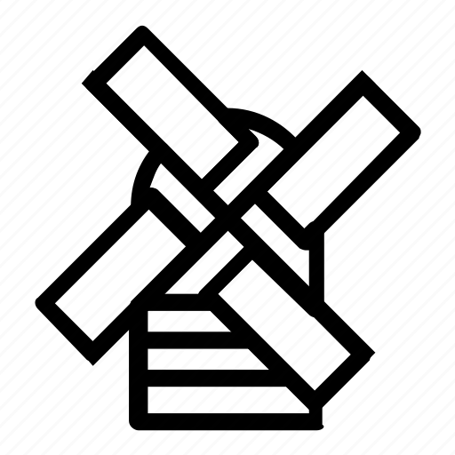 holland, windmill icon
