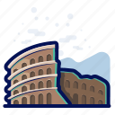 monument, landmarks, colosseum, world