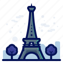 monument, tower, world, france, landmarks, eiffel