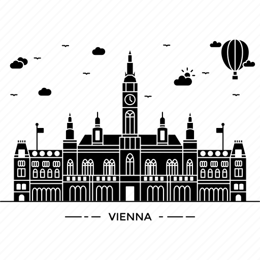 architecture, building, capital, landmark, monument, state, vienna icon