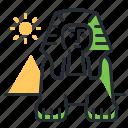 egypt, landmark, sphinx, travel icon