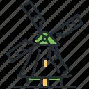 holland, landmak, netherlands, windmill icon