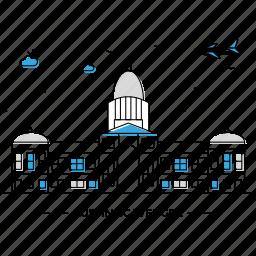 austin, building, capital, landmark, monument, scavenger, state icon