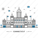 architecture, building, capital, connecticut, landmark, monument, state icon