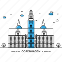 architecture, building, capital, copenhagen, landmark, monument, state icon