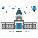 architecture, building, capital, havana, landmark, monument, state icon
