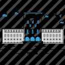 architecture, building, capital, landmark, monument, state, tirana icon