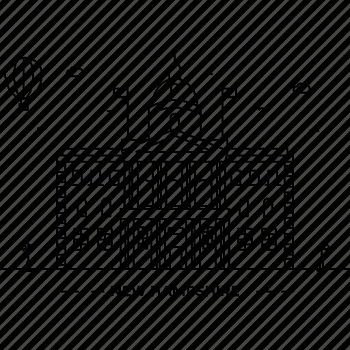 architecture, building, capital, hampshire, landmark, monument, state icon