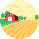 farmhouse, hut, rural, town, village icon