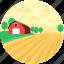 farmhouse, hut, rural, town, village icon