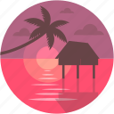 hut, luxurious, luxury hut, overwater, overwater villas icon