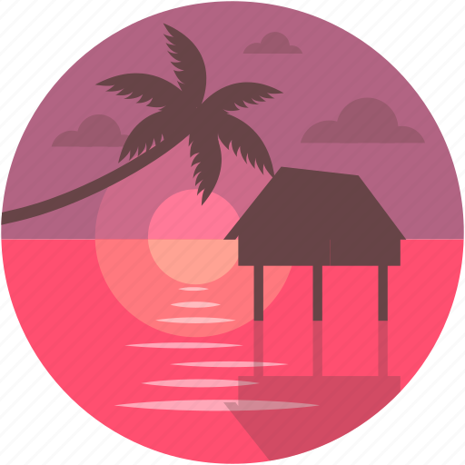 hut, luxurious, luxury hut, overwater, overwater villas icon