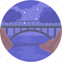 bridge, landscape, river, river bridge, transport icon