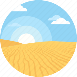 morning, mountain, rising, sunlight, sunrise icon