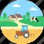 farmhouse, farming, pasture, rural, village icon