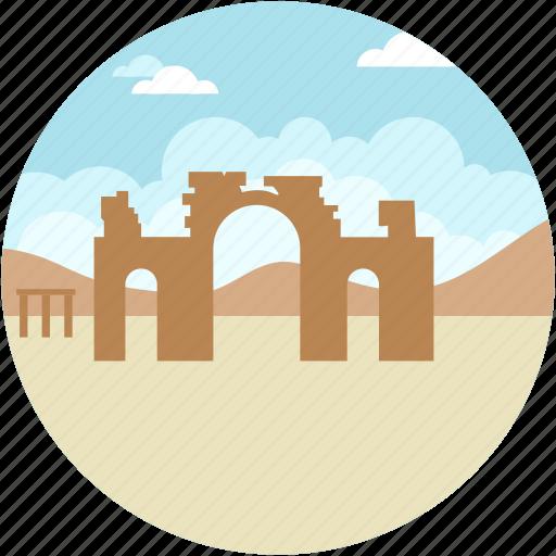 palmyra, ruins, ruins desert, syrian culture focus icon