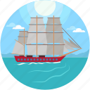 boat, sailboat, sailing boat, sailing ship, yacht icon