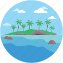 landforms, ocean, river, terrain, valley icon