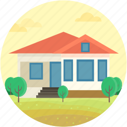 bungalow, cabin, cottage, dwelling, mansion icon
