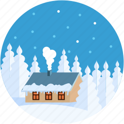 building, chimney, home, house, ice house icon
