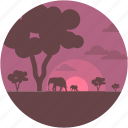cape, environment, forest, forestland, jungle icon