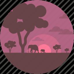 cape, environment, forest, forestland, jungle icon