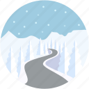 ice bridges, ice crossings, ice road, portages, scenery icon