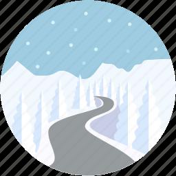ice bridges, ice crossings, ice road, portages, scenery icon