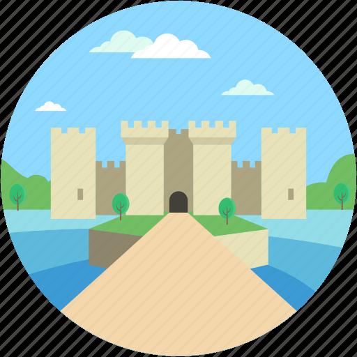 castle, castle building, castle tower, fortress, medieval icon
