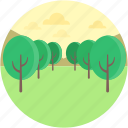 environment, forestland, landforms, park, plantation icon