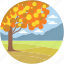 autumn tree, environment, landforms, nature, valley icon